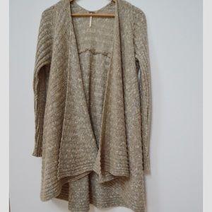 Free People Open Knit Long Cardigan Sweater